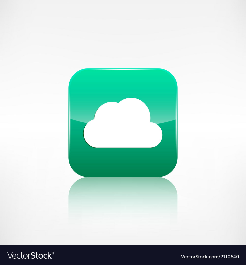 Cloud icon application button vector | Price: 1 Credit (USD $1)