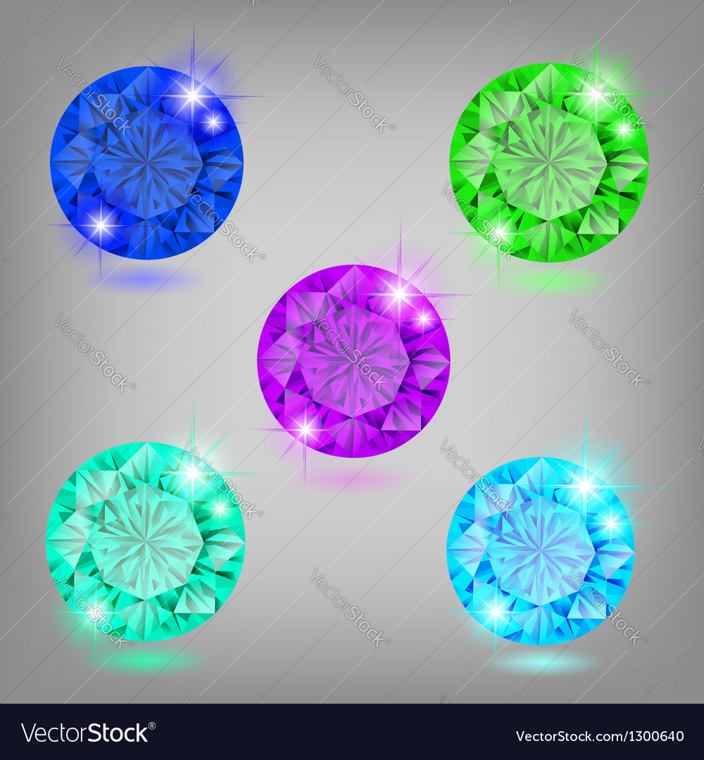 Collection of diamonds vector | Price: 1 Credit (USD $1)