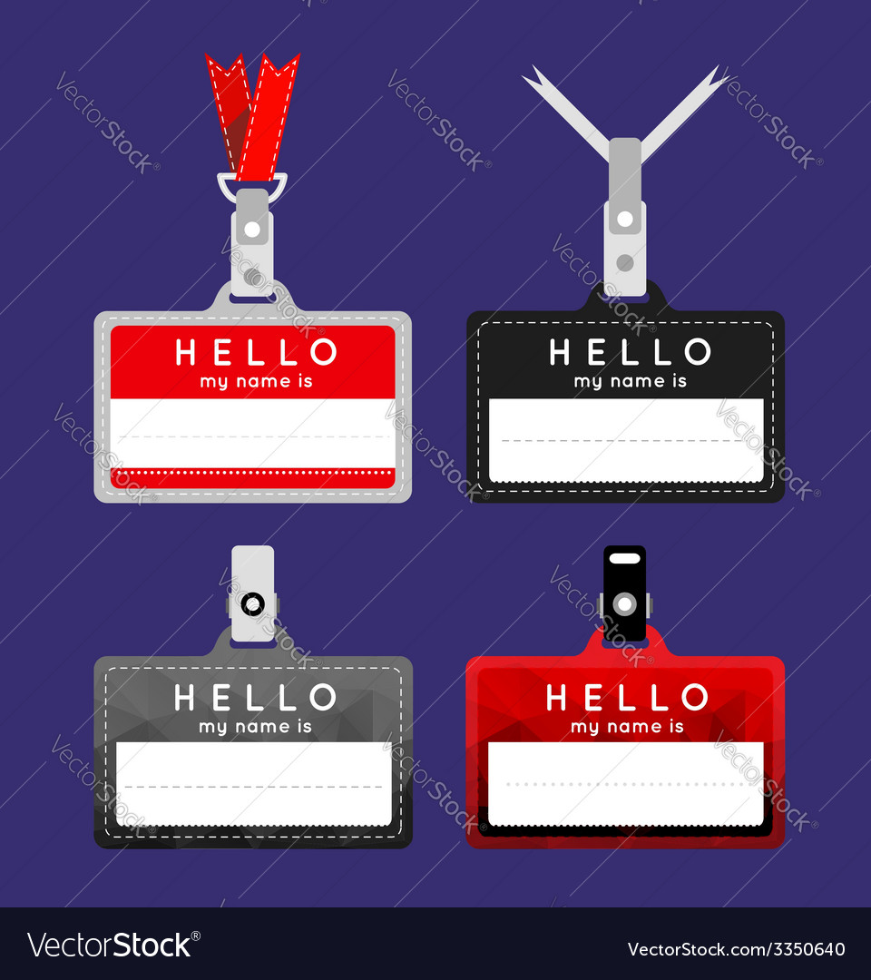 Flat name tag vector | Price: 1 Credit (USD $1)