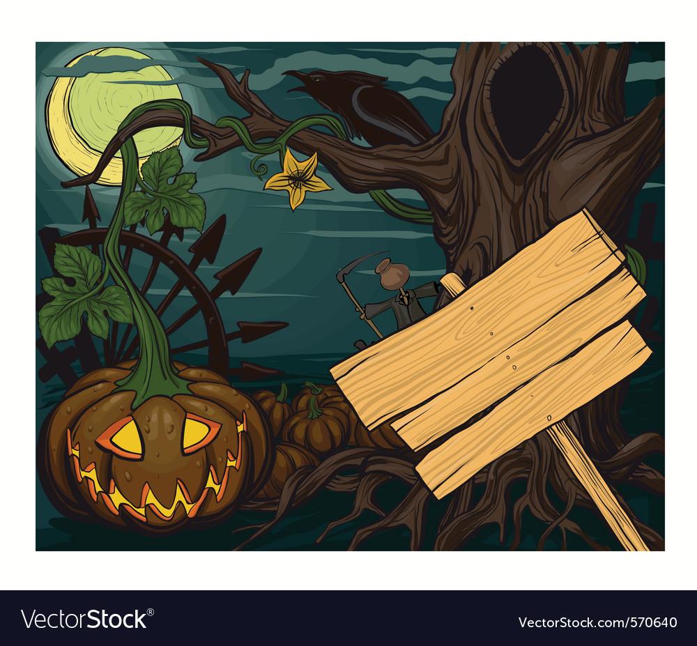 Halloween pumpkin jack o lanterns vector | Price: 3 Credit (USD $3)