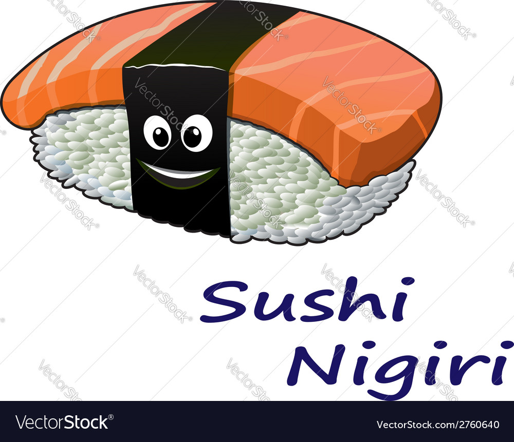Japanese seafood sushi nigiri vector | Price: 1 Credit (USD $1)