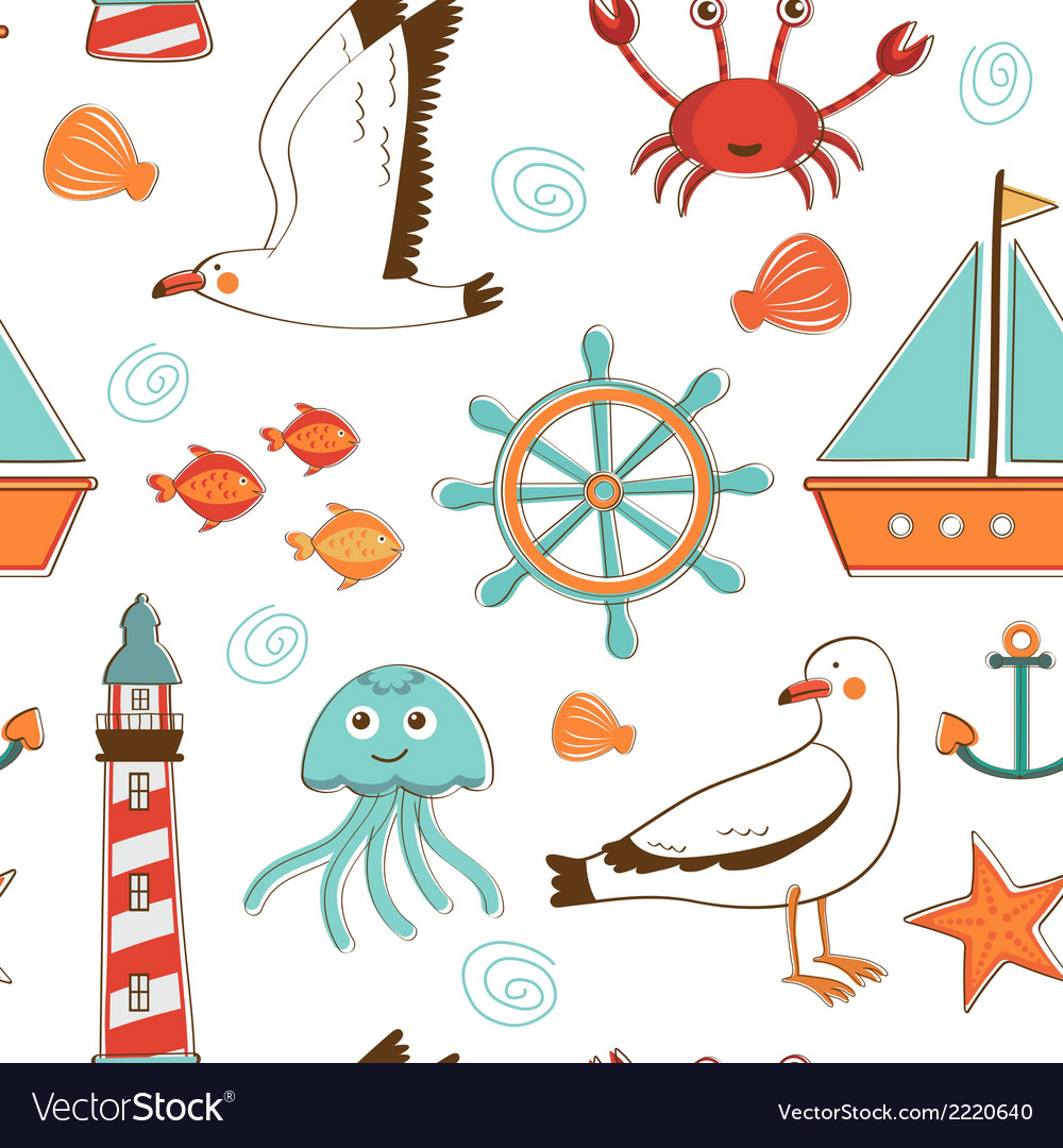 Marine background vector | Price: 1 Credit (USD $1)