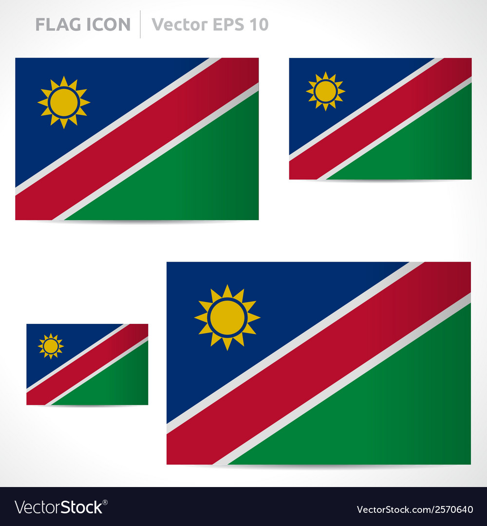Namibia flag template vector | Price: 1 Credit (USD $1)