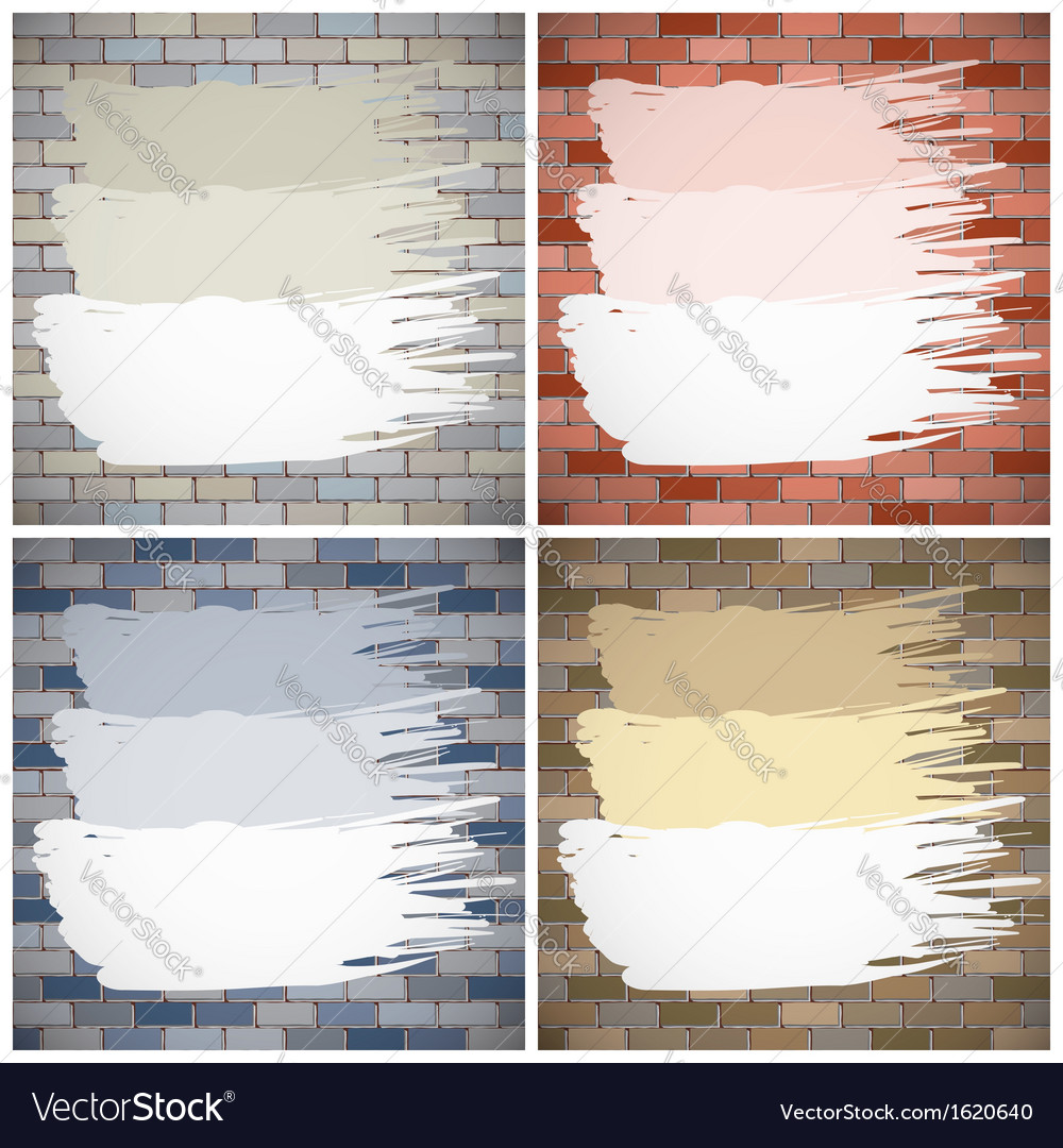 Painting brick walls vector | Price: 1 Credit (USD $1)