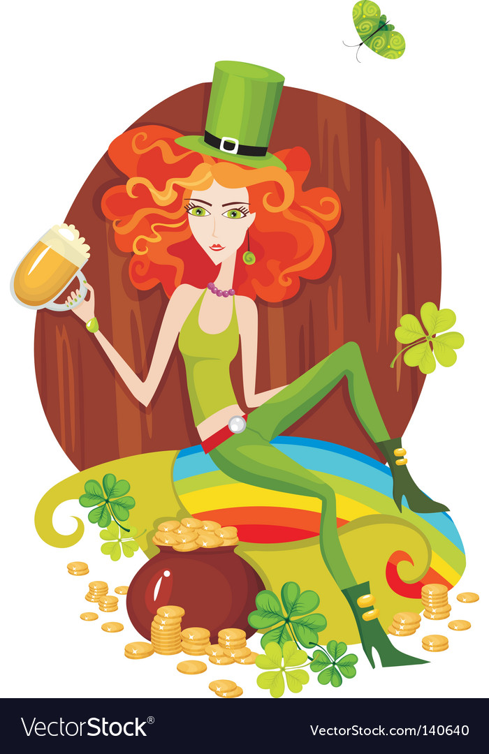 St patrick's day card vector | Price: 3 Credit (USD $3)