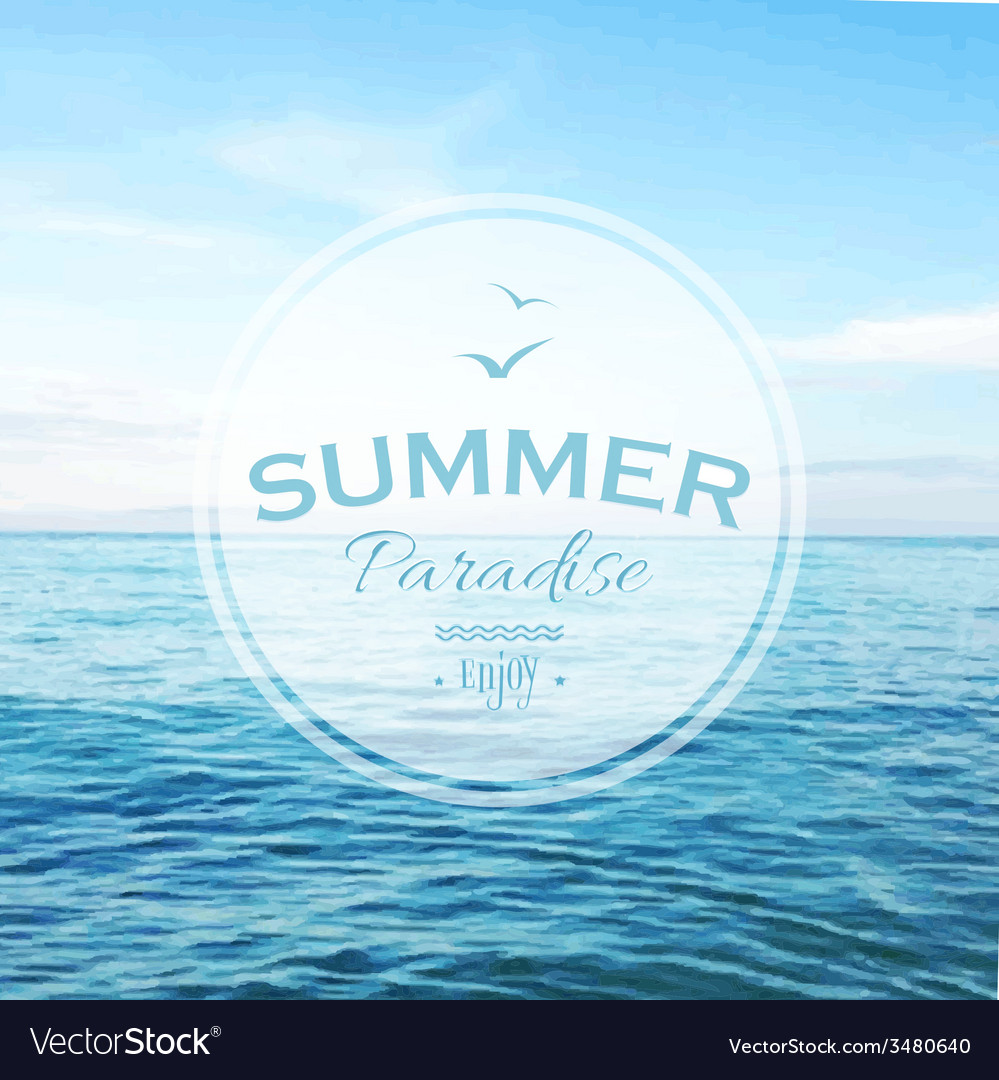 Summer time poster vector | Price: 1 Credit (USD $1)