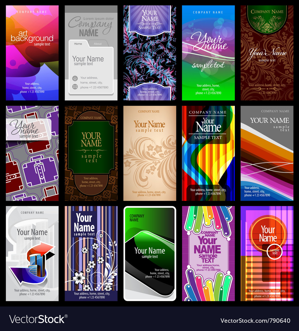 Vertical business card vector | Price: 3 Credit (USD $3)