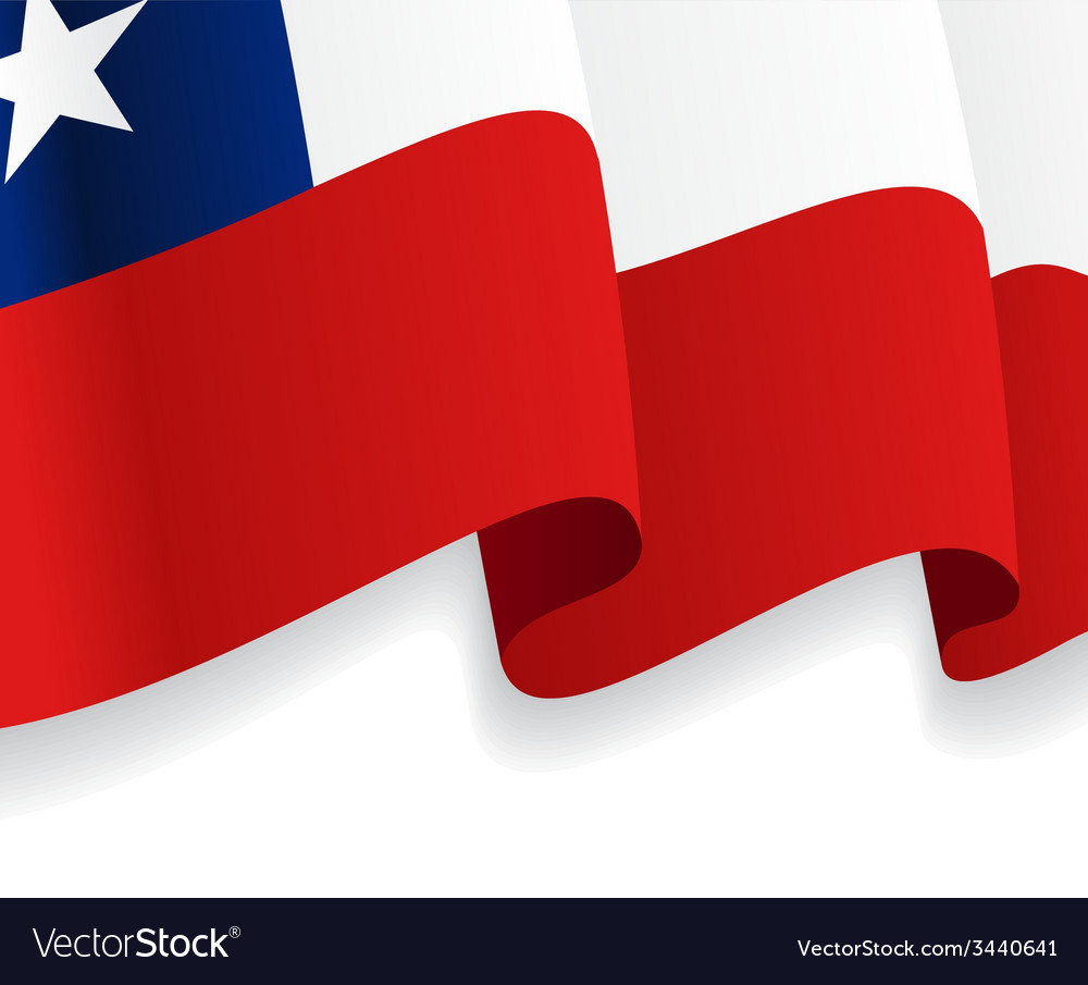 Background with waving chile flag vector | Price: 1 Credit (USD $1)