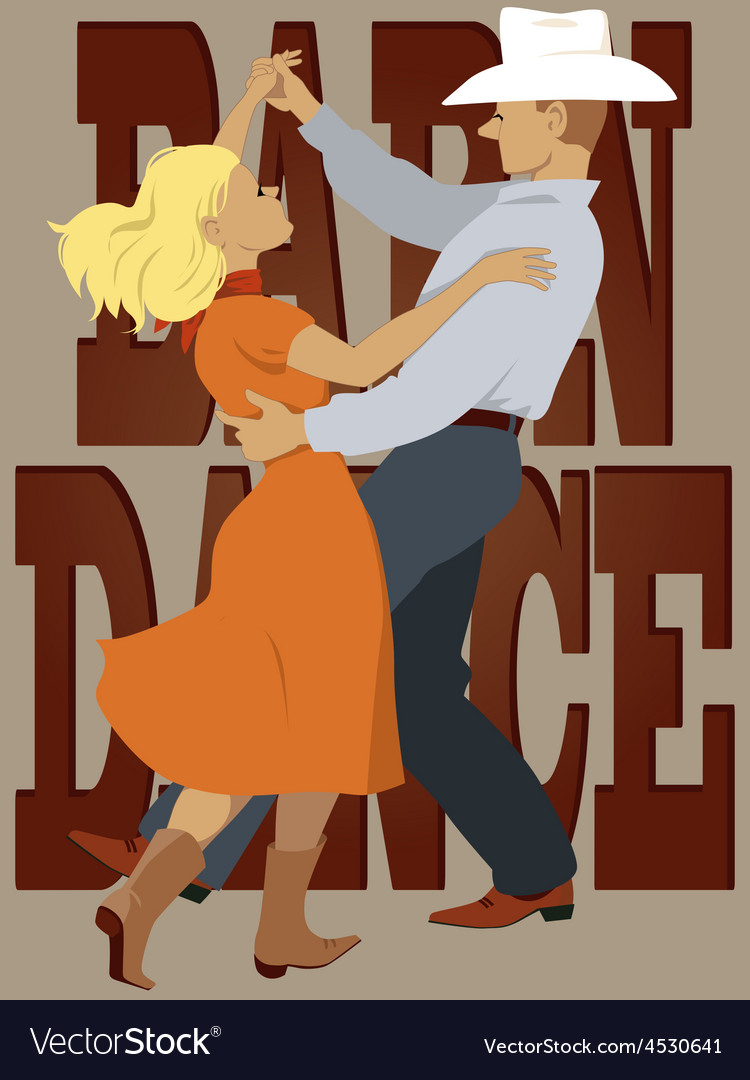 Barn dance vector | Price: 1 Credit (USD $1)