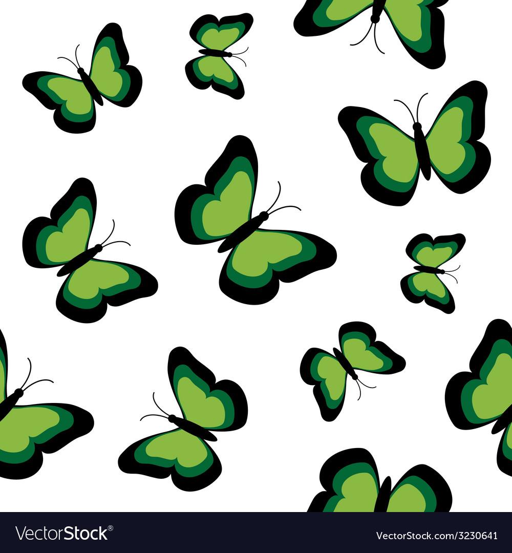 Butterflies seamless vector | Price: 1 Credit (USD $1)