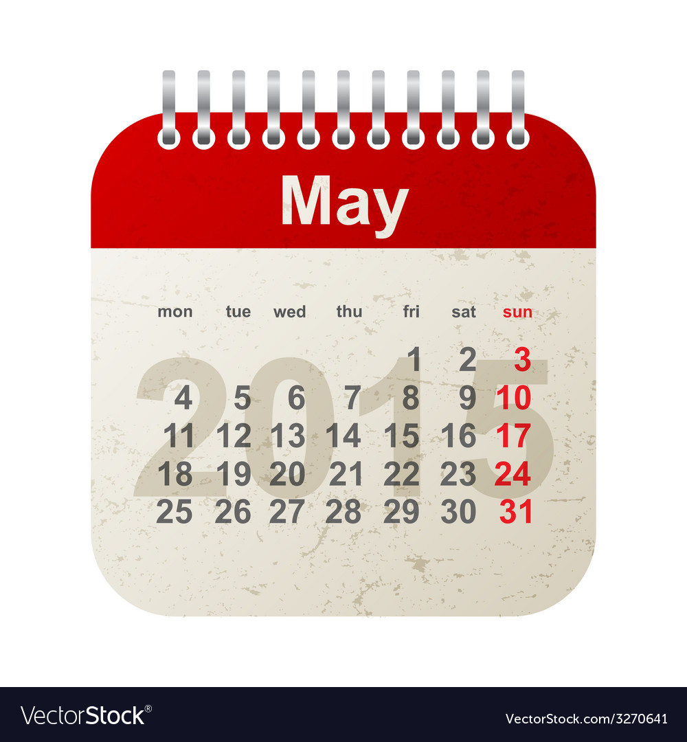 Calendar 2015 - may vector | Price: 1 Credit (USD $1)