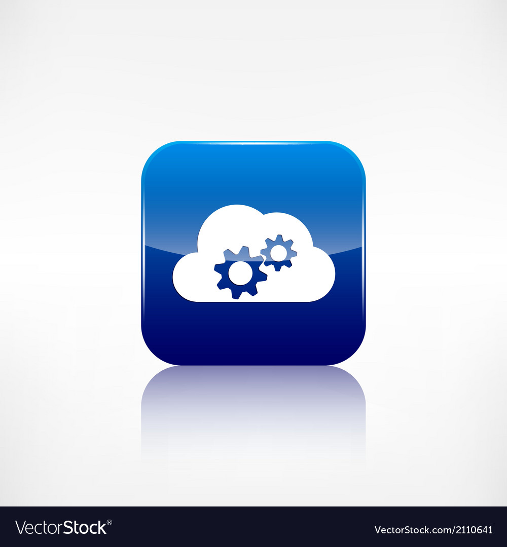 Cloud settings icon application button vector | Price: 1 Credit (USD $1)