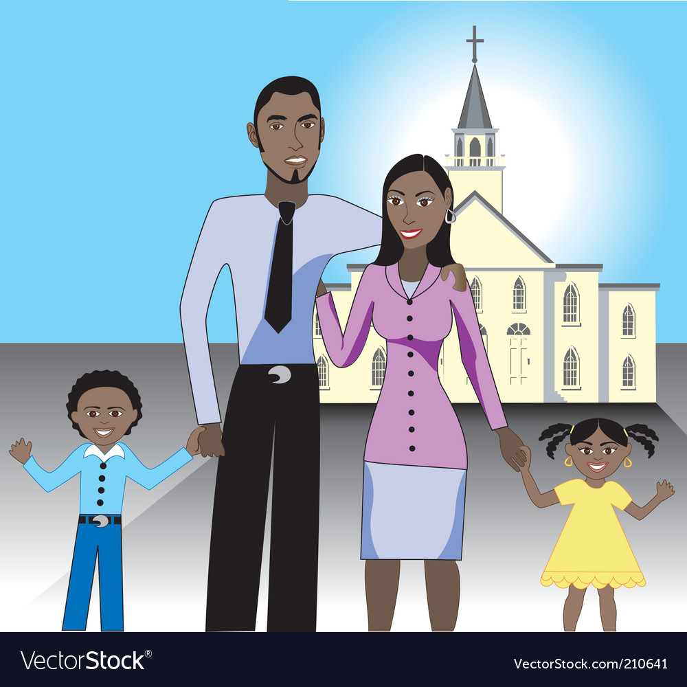 Family church vector | Price: 1 Credit (USD $1)