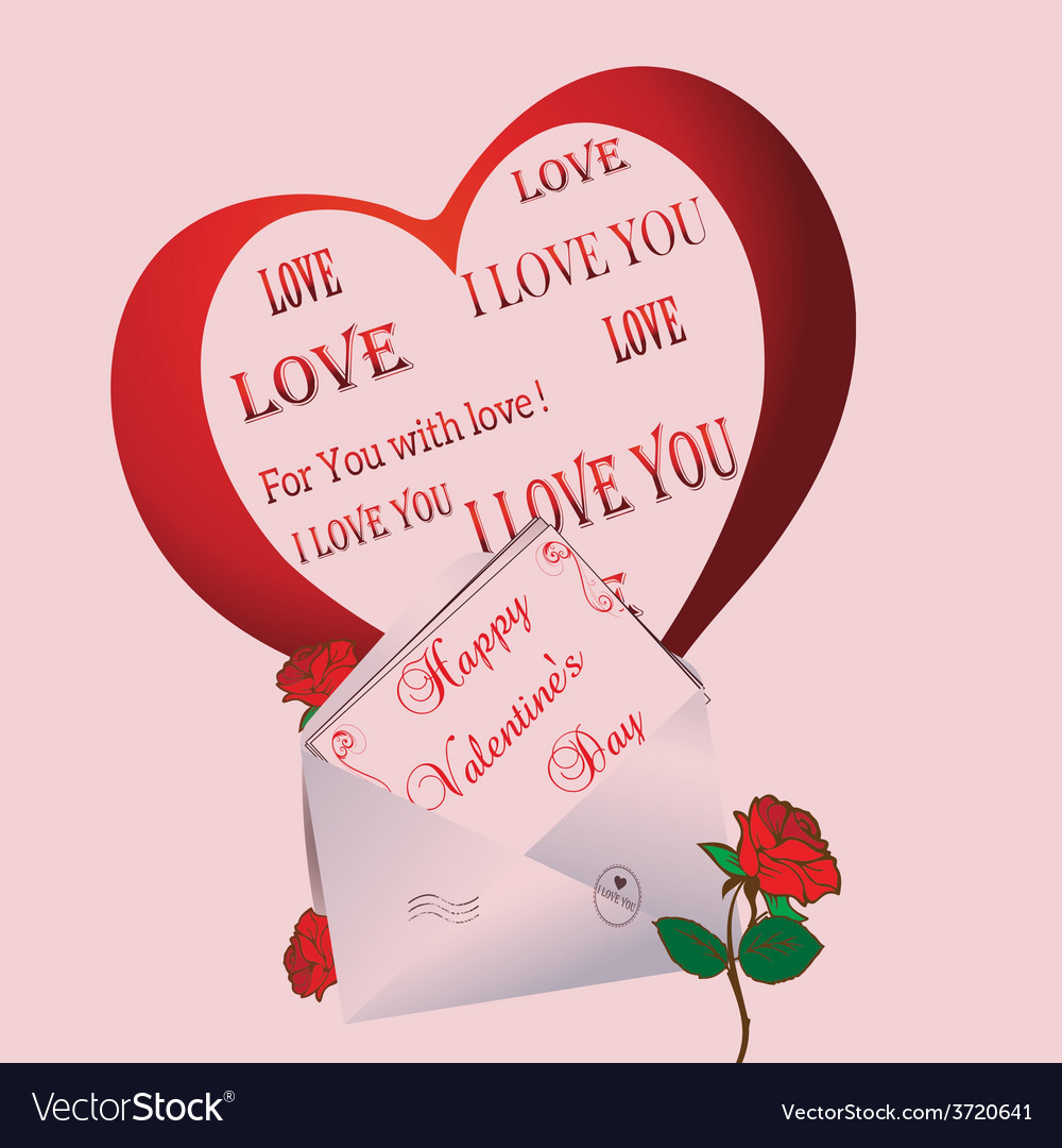 Greeting card valentines day vector   Price: 1 Credit (USD $1)