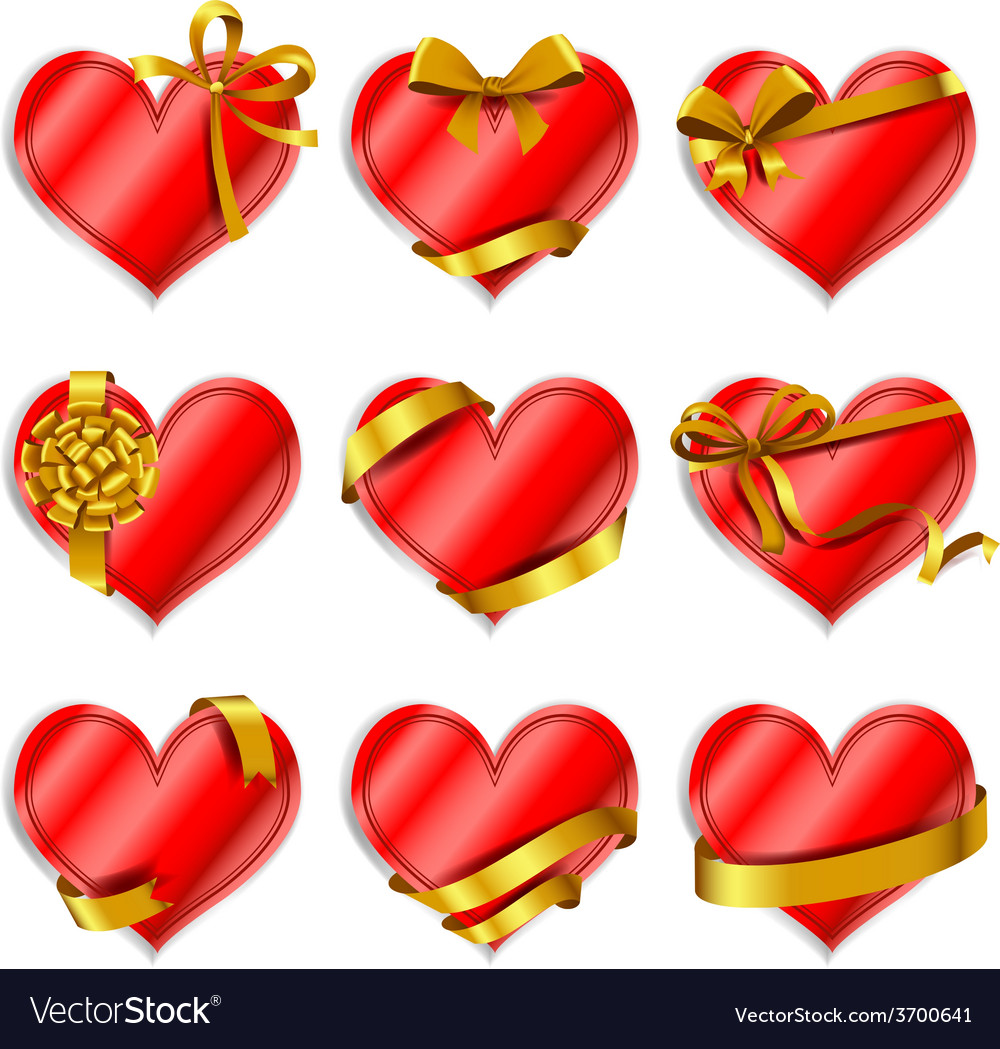 Heart-shaped red cards vector | Price: 1 Credit (USD $1)
