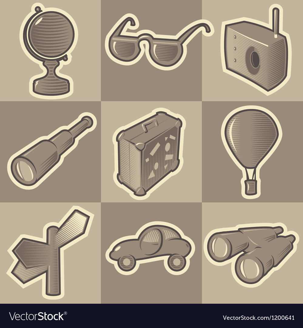 Monochrome travel icons vector   Price: 1 Credit (USD $1)