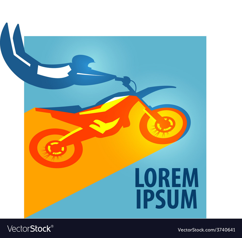 Motocross logo design template motorcycle vector | Price: 1 Credit (USD $1)