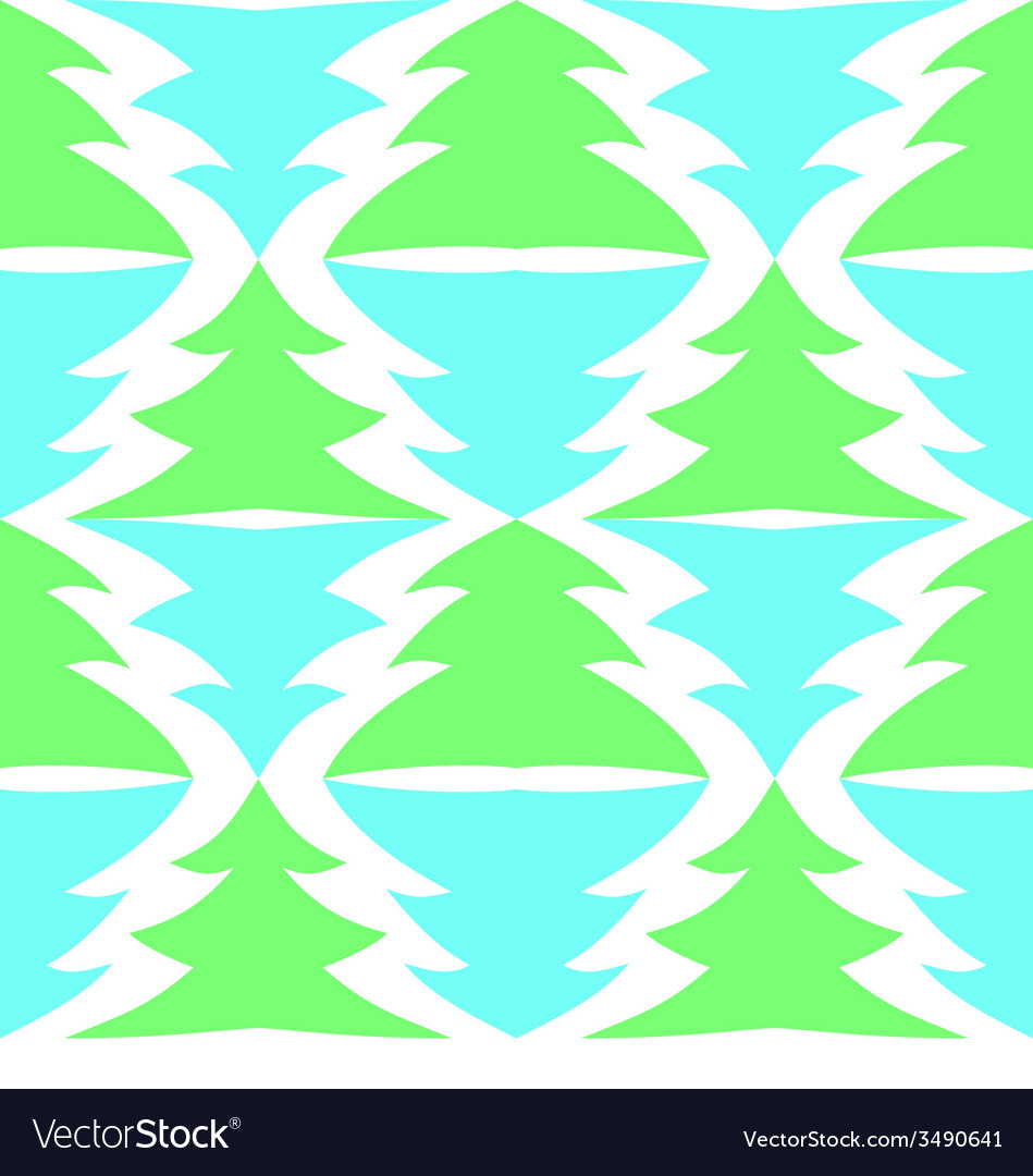 Seamless multicolored spruces isolated on white vector | Price: 1 Credit (USD $1)
