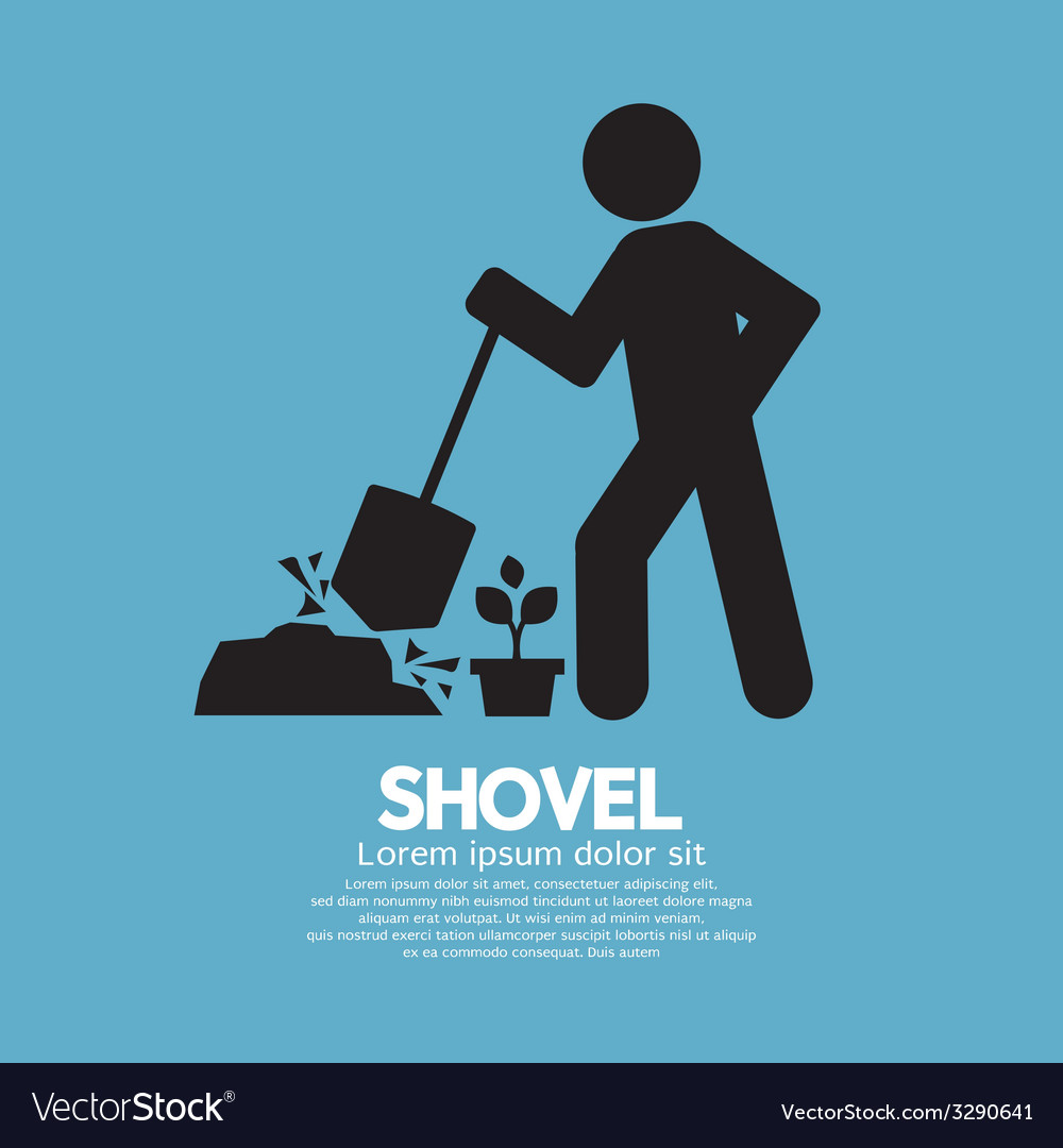 Shovel and gardener symbol vector | Price: 1 Credit (USD $1)