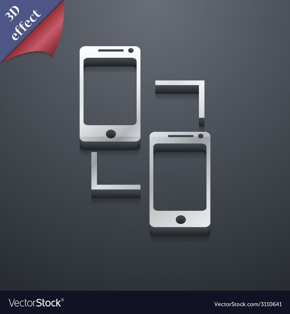 Synchronization icon symbol 3d style trendy modern vector | Price: 1 Credit (USD $1)