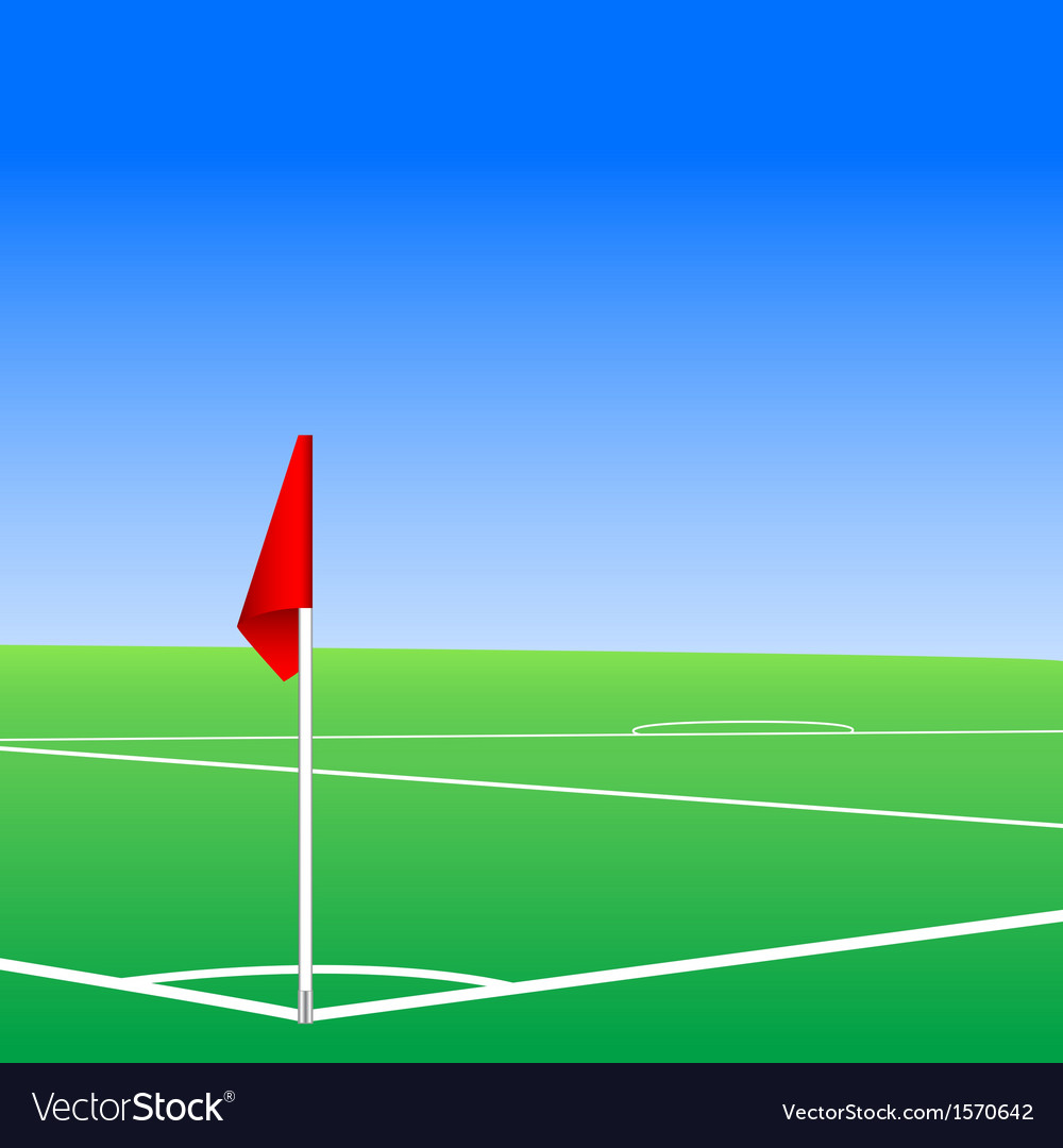 A football pitch corner flag vector | Price: 1 Credit (USD $1)