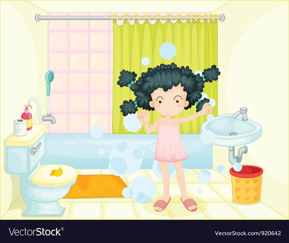 Bath time vector | Price: 3 Credit (USD $3)