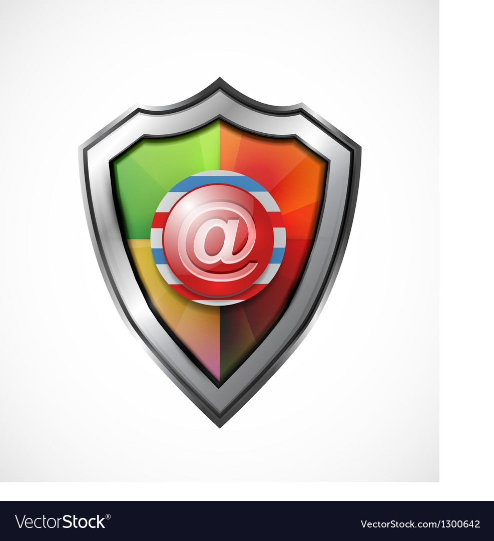 Email protection icon  shield vector | Price: 3 Credit (USD $3)