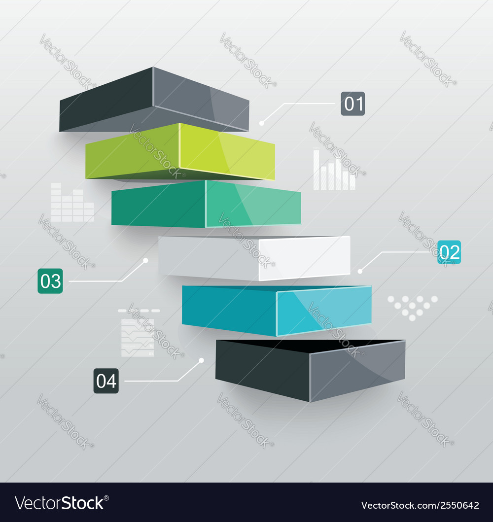 Modern business steps to success vector | Price: 1 Credit (USD $1)