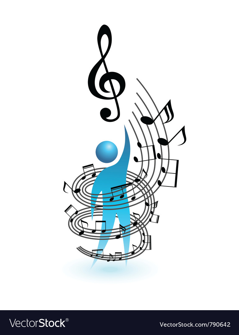 Music concept people vector | Price: 1 Credit (USD $1)