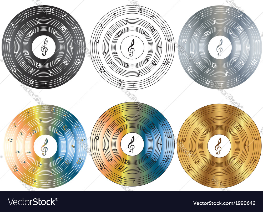 Musical disk vector | Price: 1 Credit (USD $1)