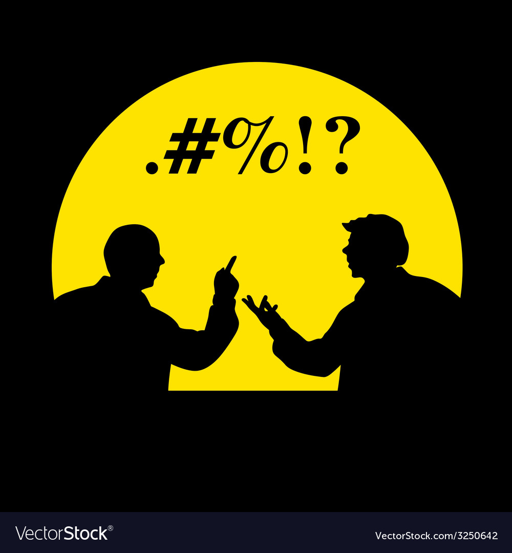 People talking silhouette vector | Price: 1 Credit (USD $1)