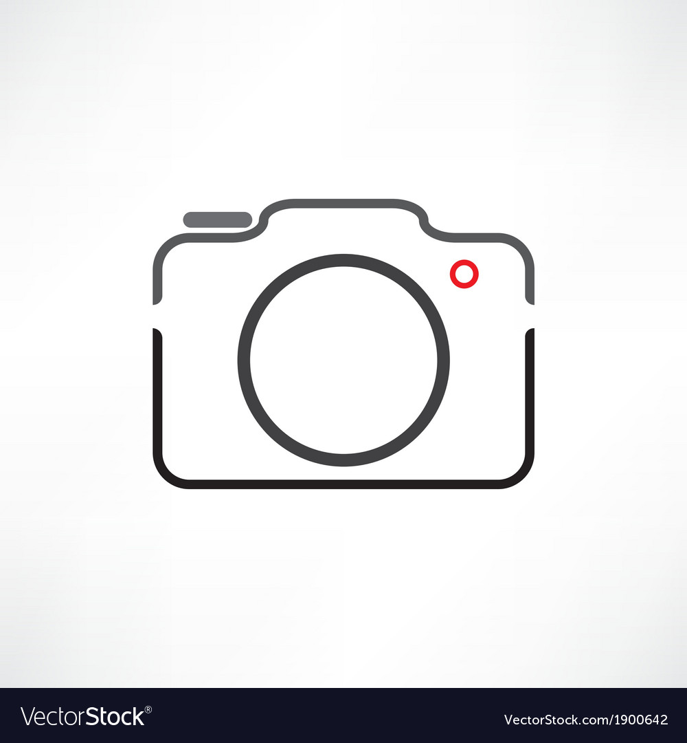 White camera vector | Price: 1 Credit (USD $1)