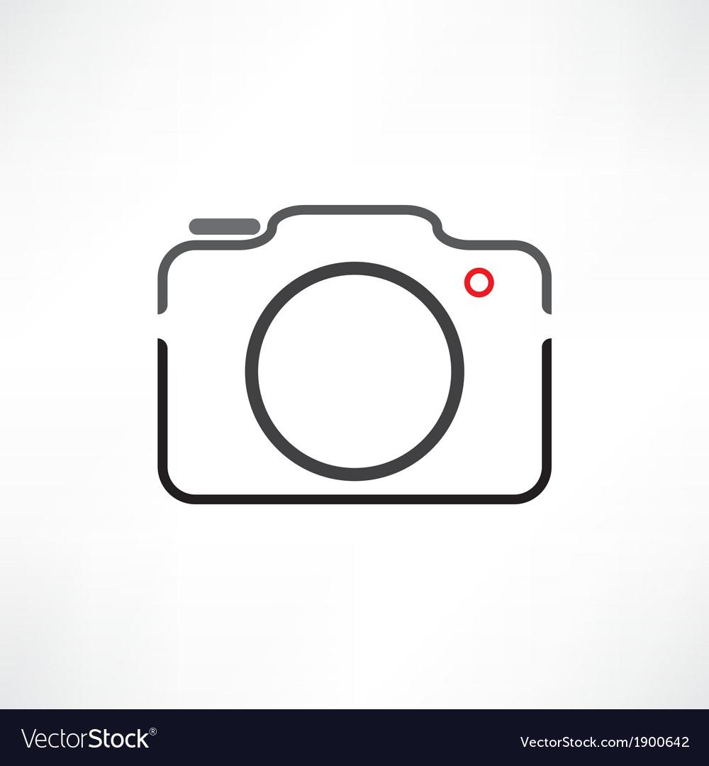 White camera vector | Price: 1 Credit (USD $1)
