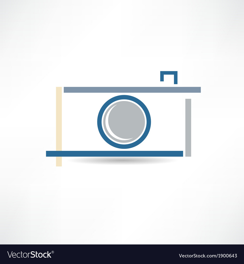 Creative camera icon vector | Price: 1 Credit (USD $1)