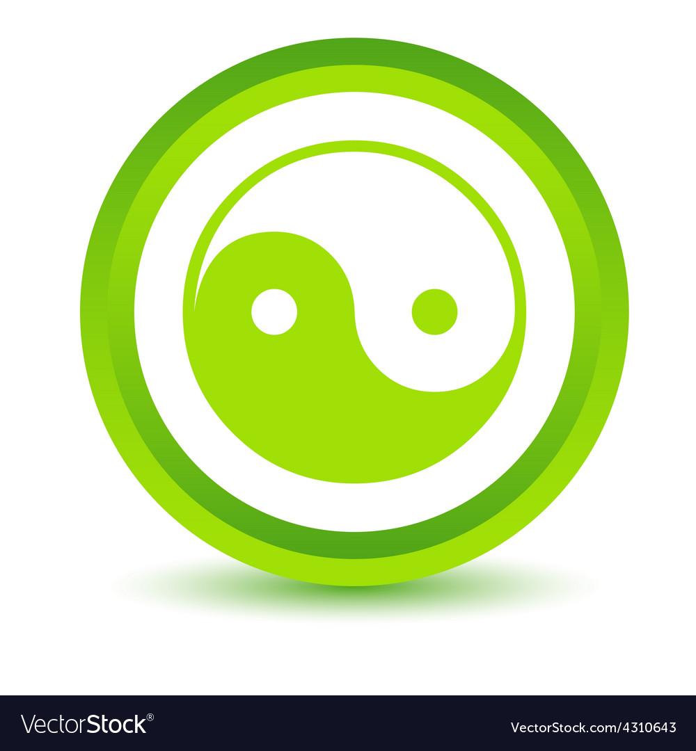 Green yin yang icon vector | Price: 1 Credit (USD $1)