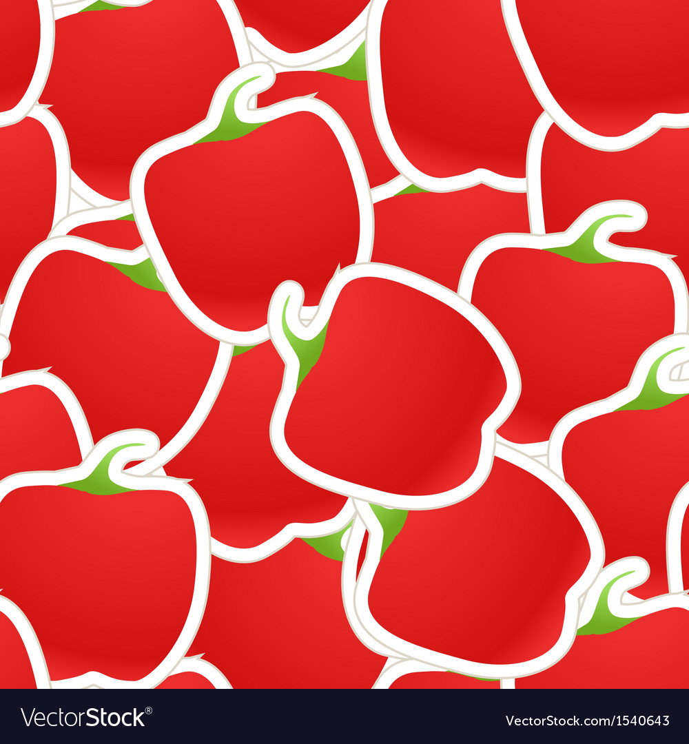 Red paprica seamless background vector | Price: 1 Credit (USD $1)
