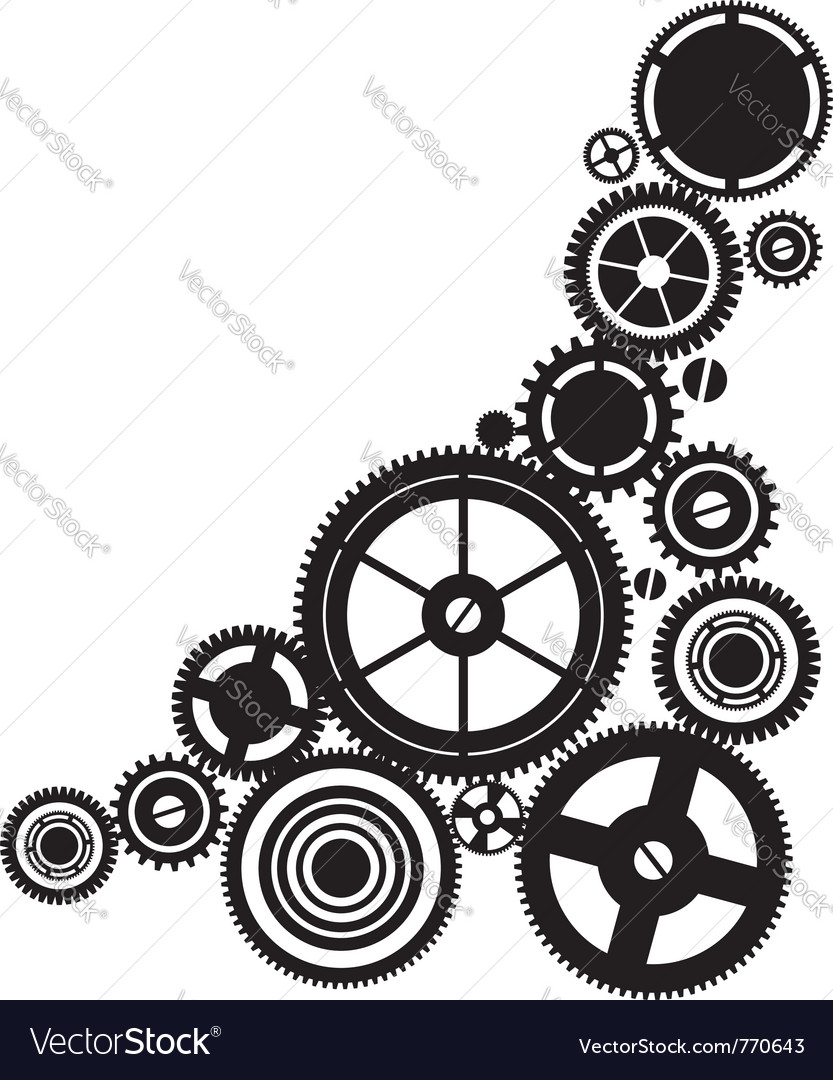 Silhouette clockwork vector | Price: 1 Credit (USD $1)