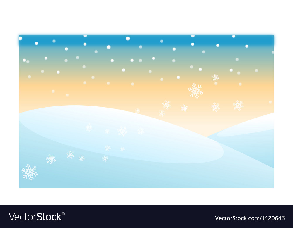 Snowing over snowcapped mountain vector | Price: 1 Credit (USD $1)