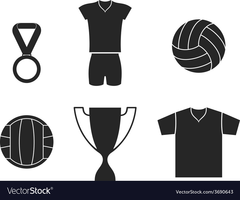Volleyball set vector | Price: 1 Credit (USD $1)