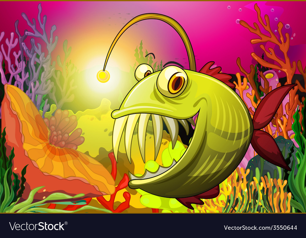 A big fish under the sea vector | Price: 3 Credit (USD $3)