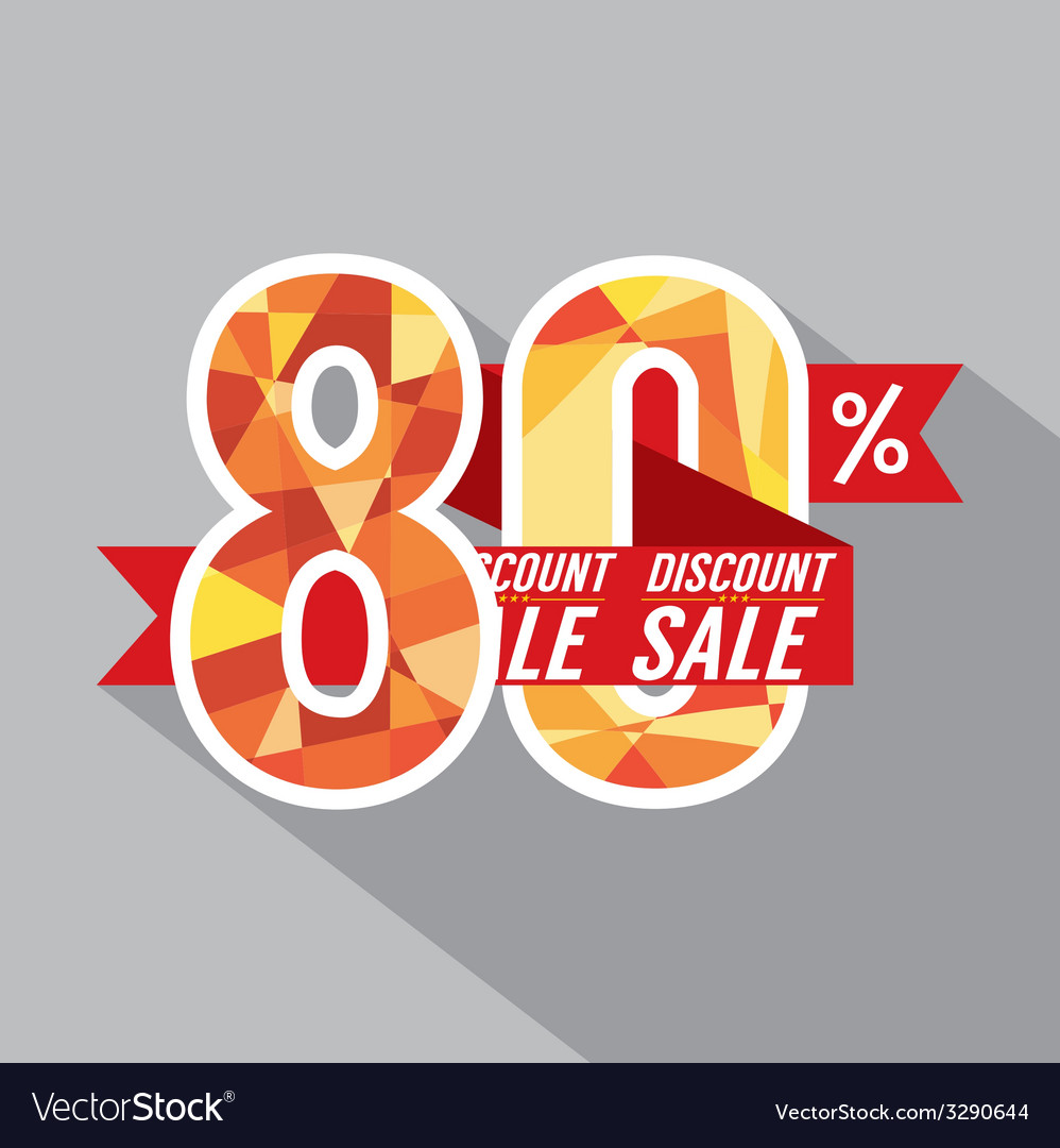 Discount 80 percent off vector | Price: 1 Credit (USD $1)
