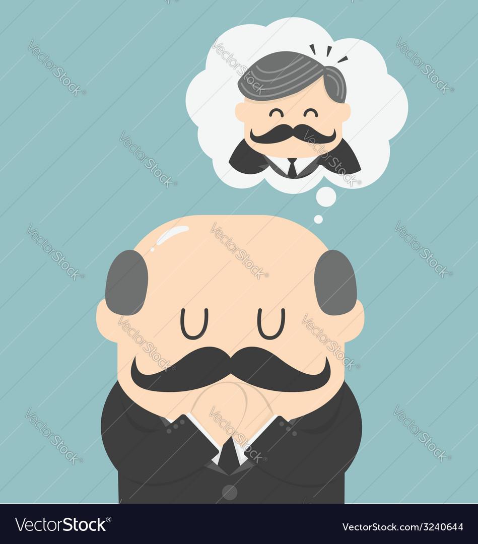 Dreams of bald men vector | Price: 1 Credit (USD $1)