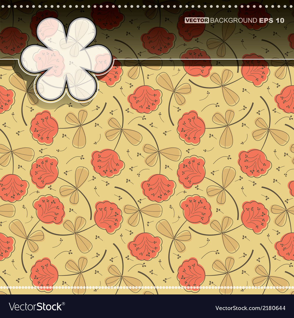 Floral card vector | Price: 1 Credit (USD $1)