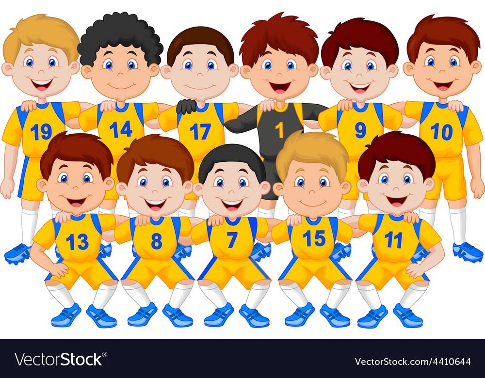 Football team cartoon vector | Price: 1 Credit (USD $1)
