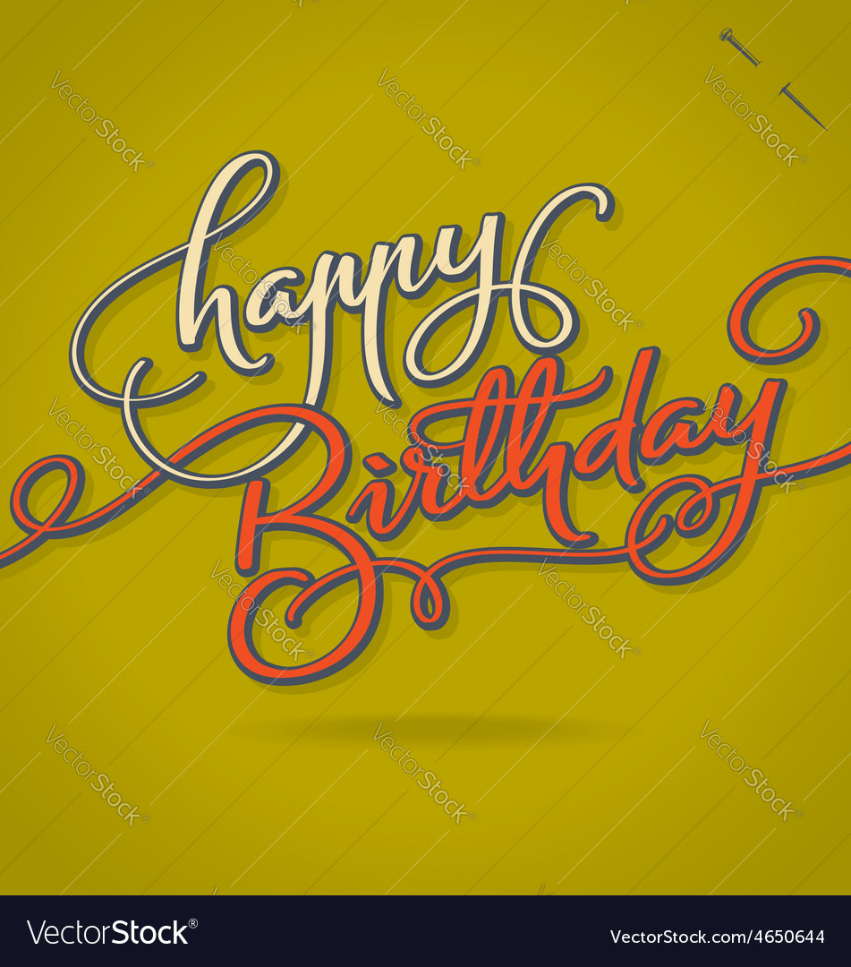 Happy birthday hand lettering vector | Price: 1 Credit (USD $1)