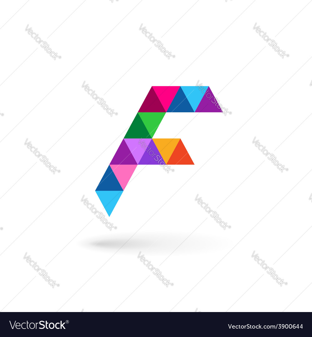 Letter f mosaic logo icon design template elements vector | Price: 1 Credit (USD $1)