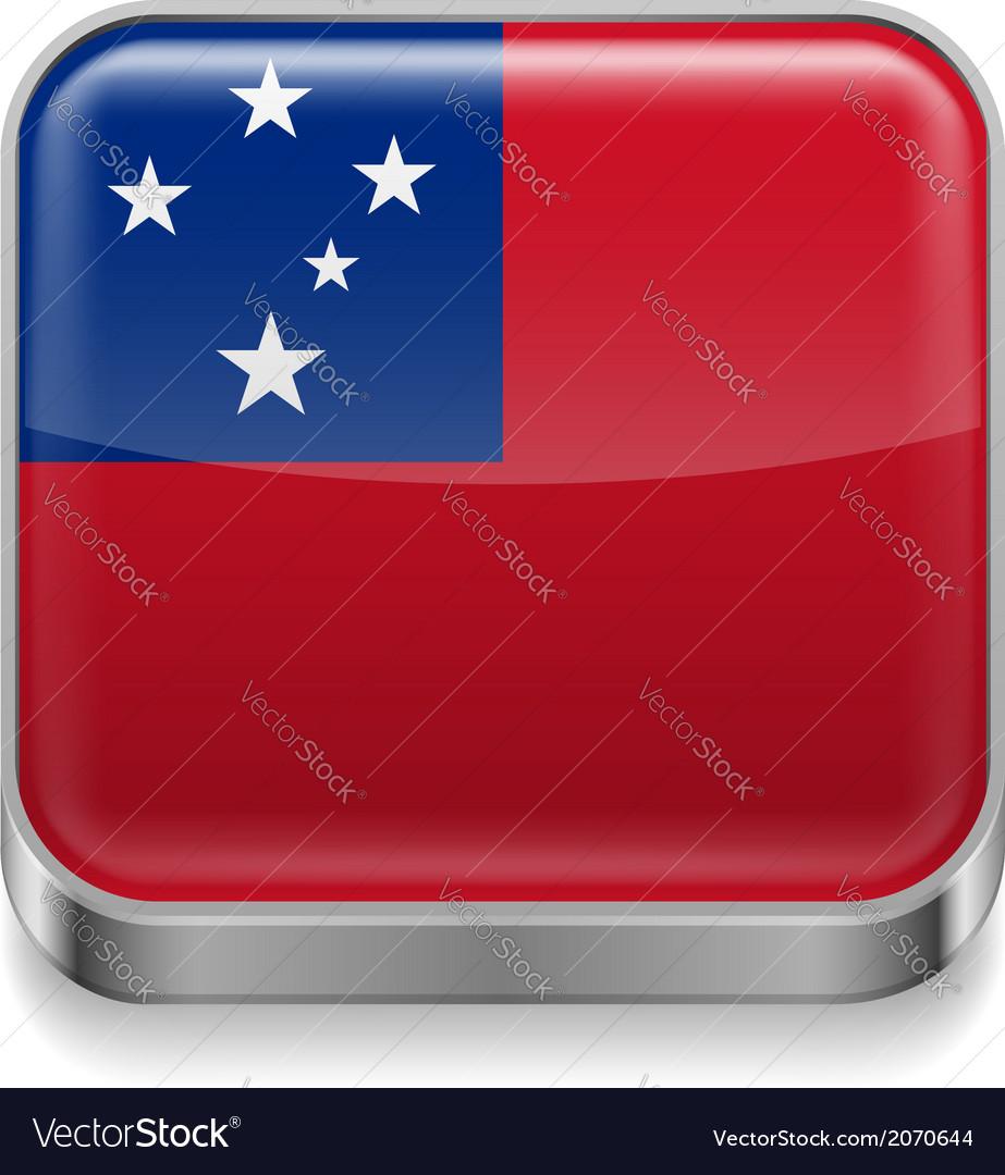 Metal icon of samoa vector | Price: 1 Credit (USD $1)