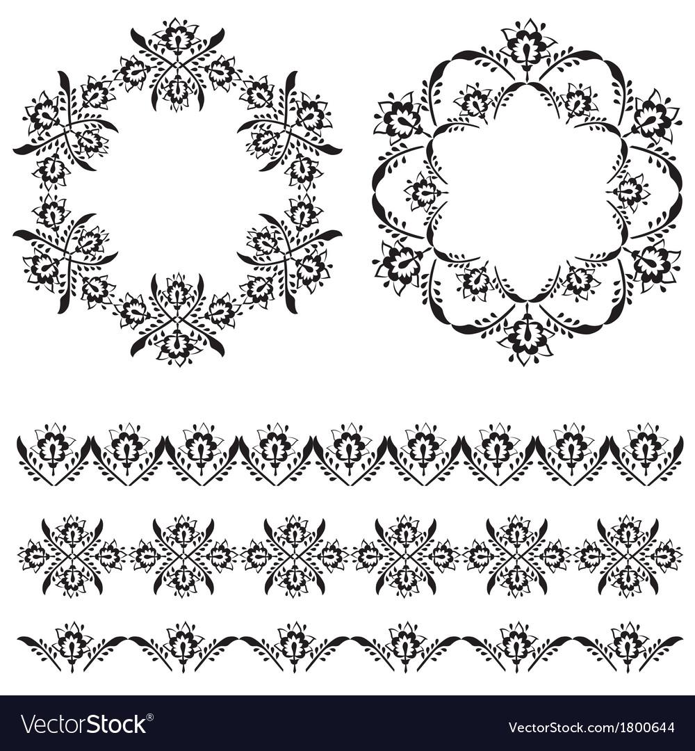 Oriental border and ornament eleven vector | Price: 1 Credit (USD $1)