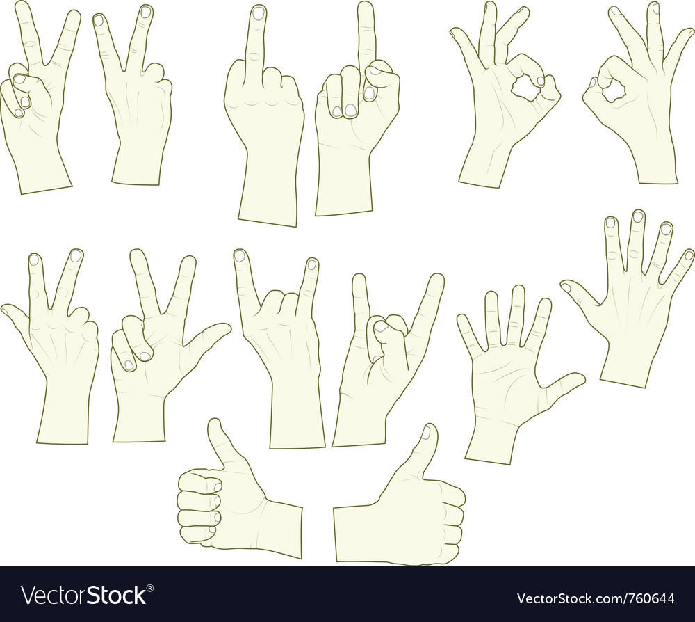 Sketching of hand gestures vector | Price: 1 Credit (USD $1)