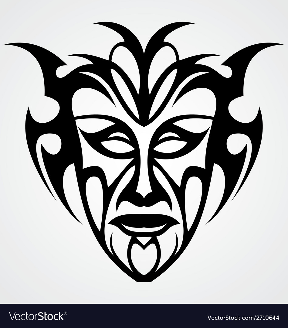 Tribal face vector | Price: 1 Credit (USD $1)
